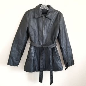 NWT OSCAR PIEL Leather Zipped Fur Lined Jacket M